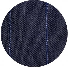 Sartorial Navy Blue Wide Stripe 160s Pants - thumbnail image 1