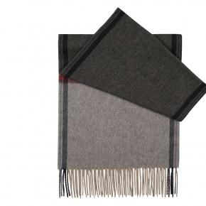 Charcoal & Grey Cashmere Scarf - thumbnail image 1