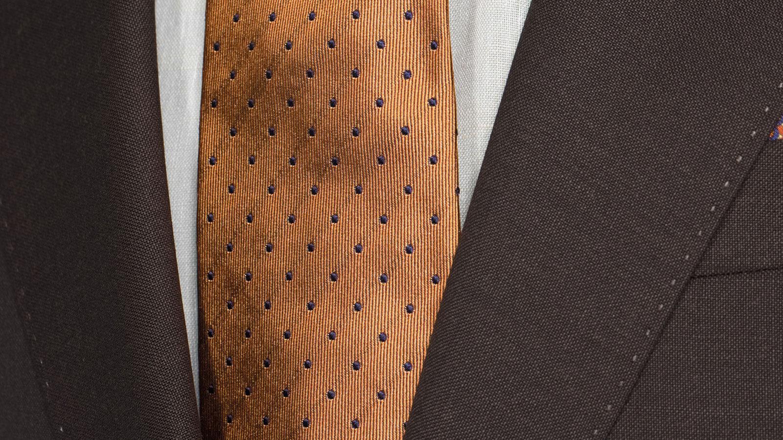 Solid Chocolate Brown Wool & Mohair Suit - slider image 1
