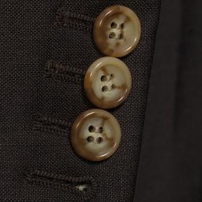 Solid Chocolate Brown Wool & Mohair Suit - thumbnail image 2