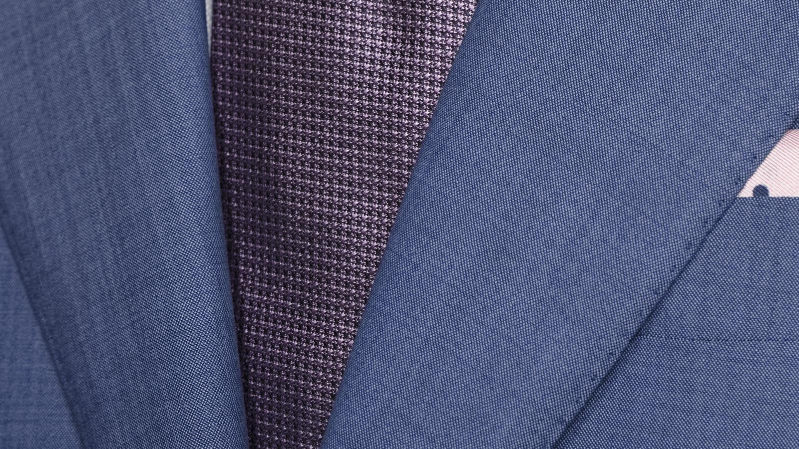Solid Sky Blue Bi-Stretch Suit - slider image 1