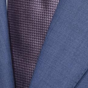 Solid Sky Blue Bi-Stretch Suit - thumbnail image 1