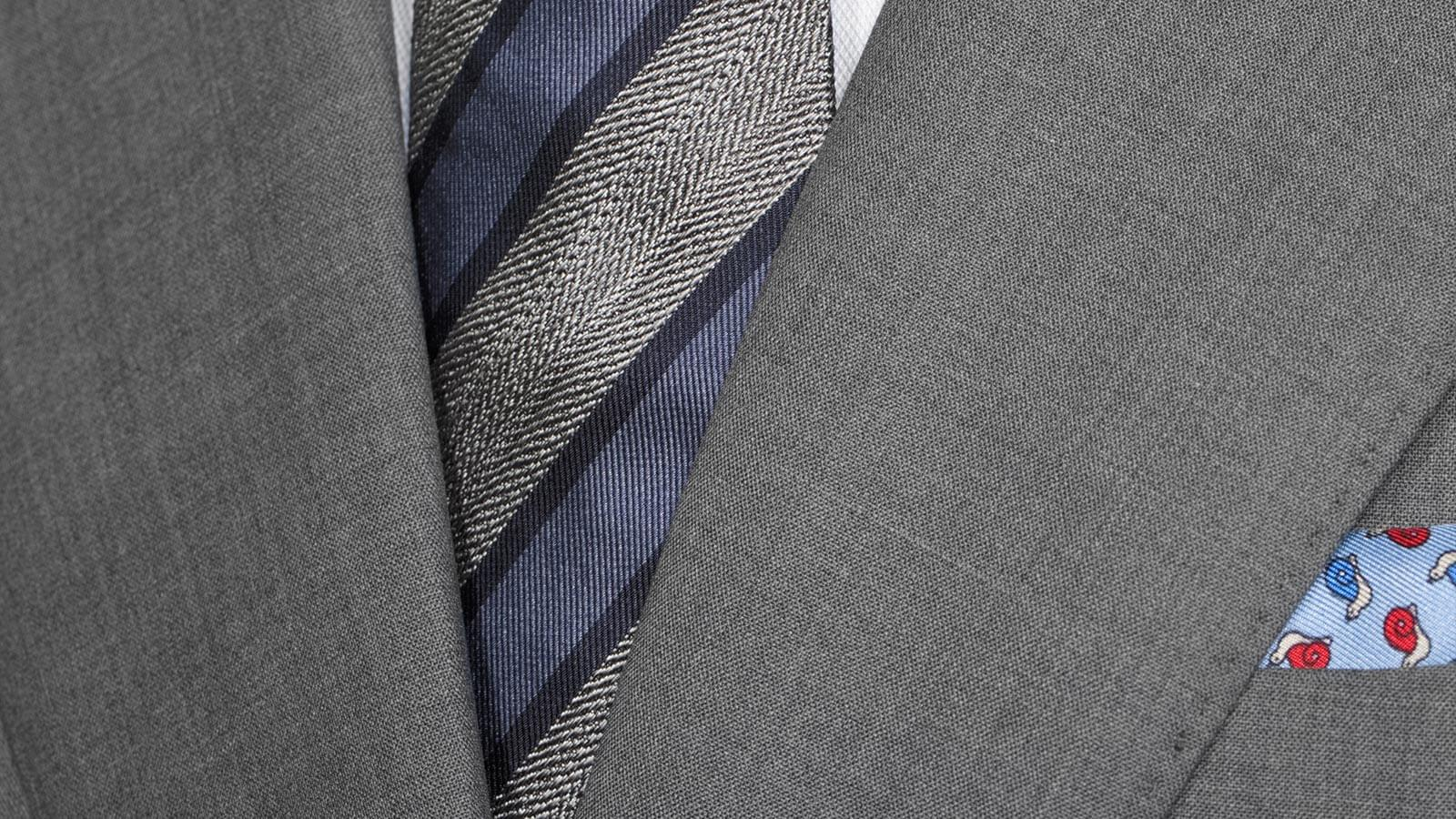 Solid Grey Bi-Stretch Suit - slider image 1