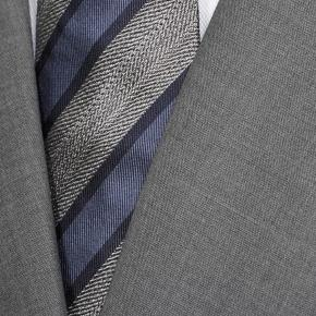 Solid Grey Bi-Stretch Suit - thumbnail image 1