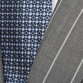 Light Grey Wide Stripe Suit - thumbnail image 1