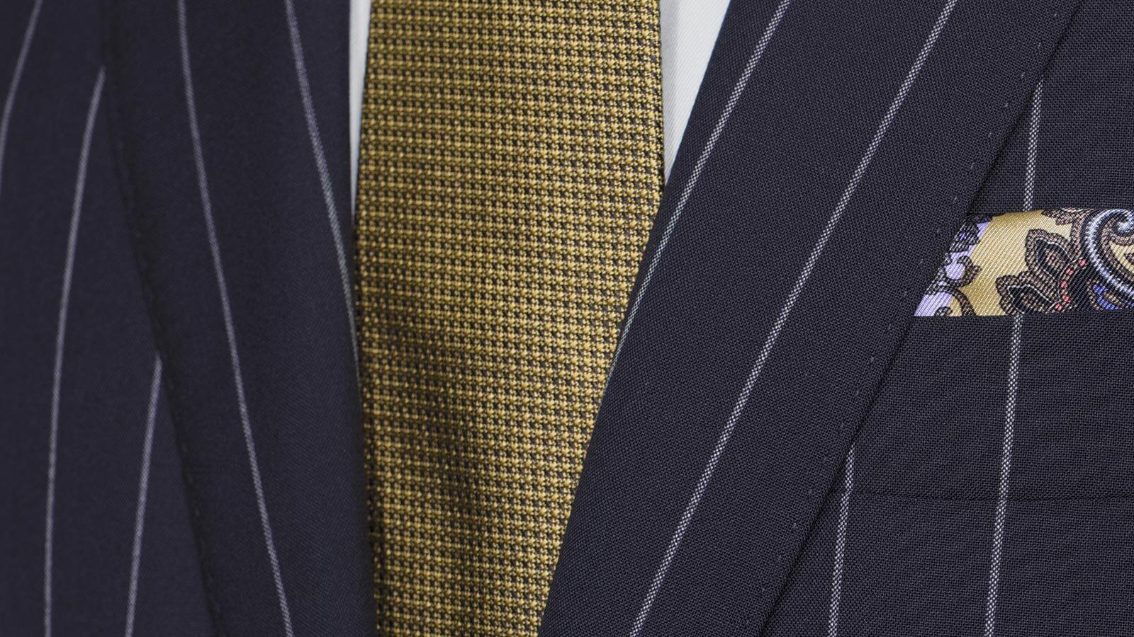 Deep Blue Wide Stripe Suit - slider image 1
