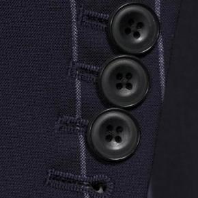Deep Blue Wide Stripe Suit - thumbnail image 2
