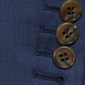 Prussian Blue Wool & Silk Suit - thumbnail image 2