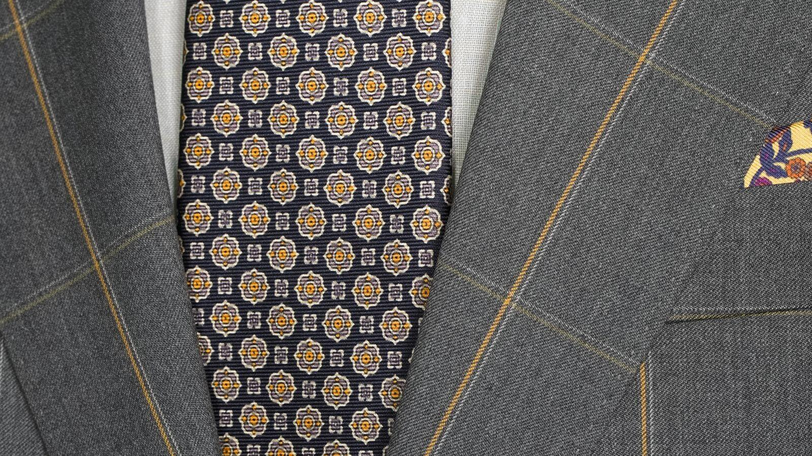 Tangerine Check Dark Grey Suit - slider image 1