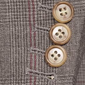 Tropical Rustic Light Brown Plaid with Red Overcheck Suit - thumbnail image 2