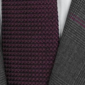 Tropical Rustic Charcoal Plaid with Purple Overcheck Suit - thumbnail image 1