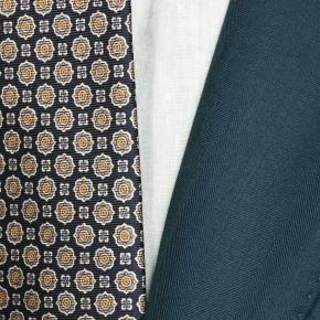 Sartorial Turquoise Blue Green Herringbone 160s Suit - thumbnail image 1