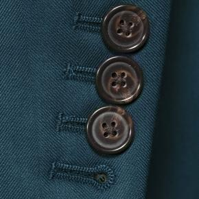 Sartorial Turquoise Blue Green Herringbone 160s Suit - thumbnail image 2
