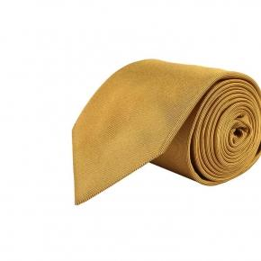 Solid Gold Silk Tie - thumbnail image 1