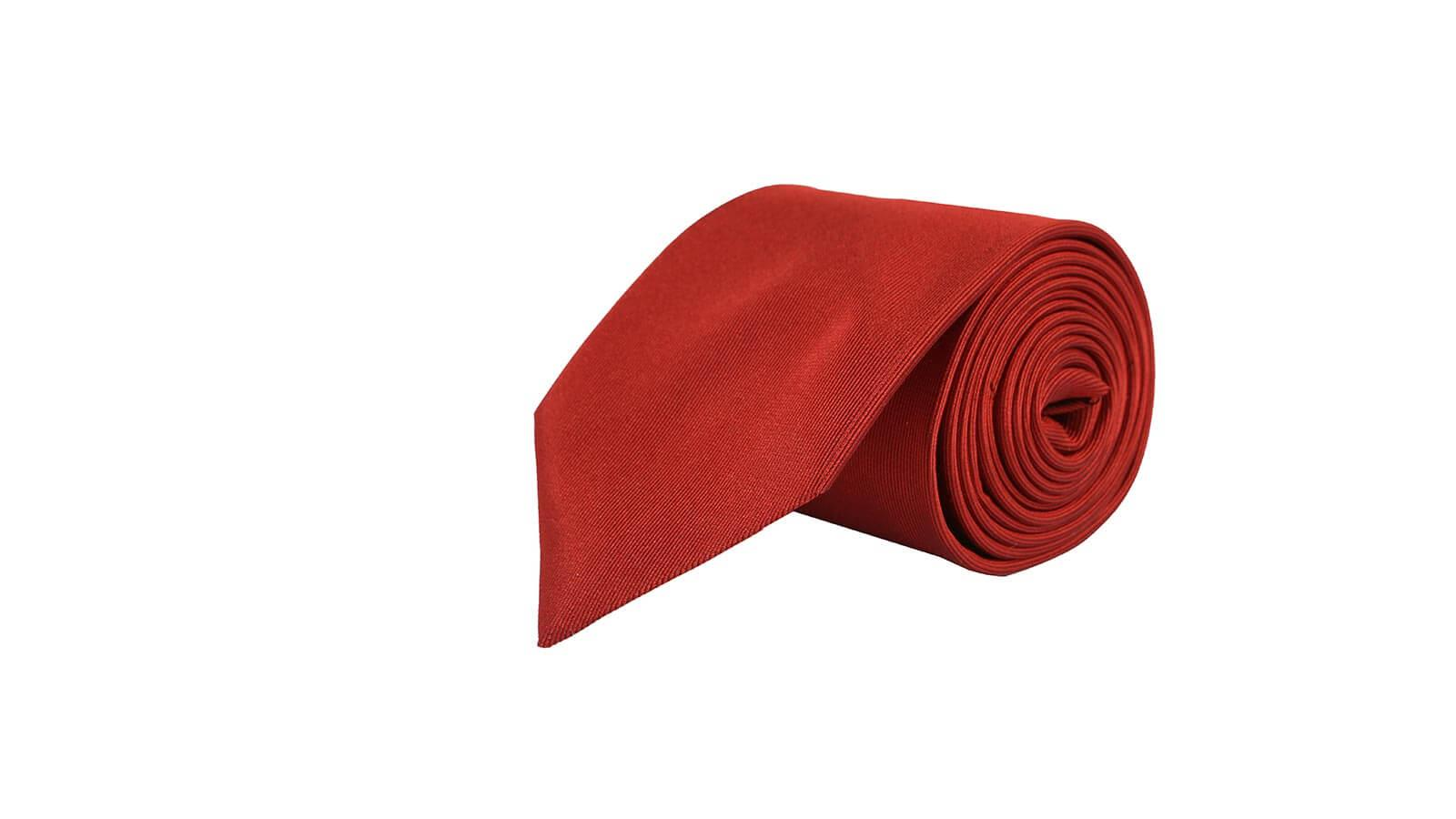 Solid Copper Silk Tie - slider image