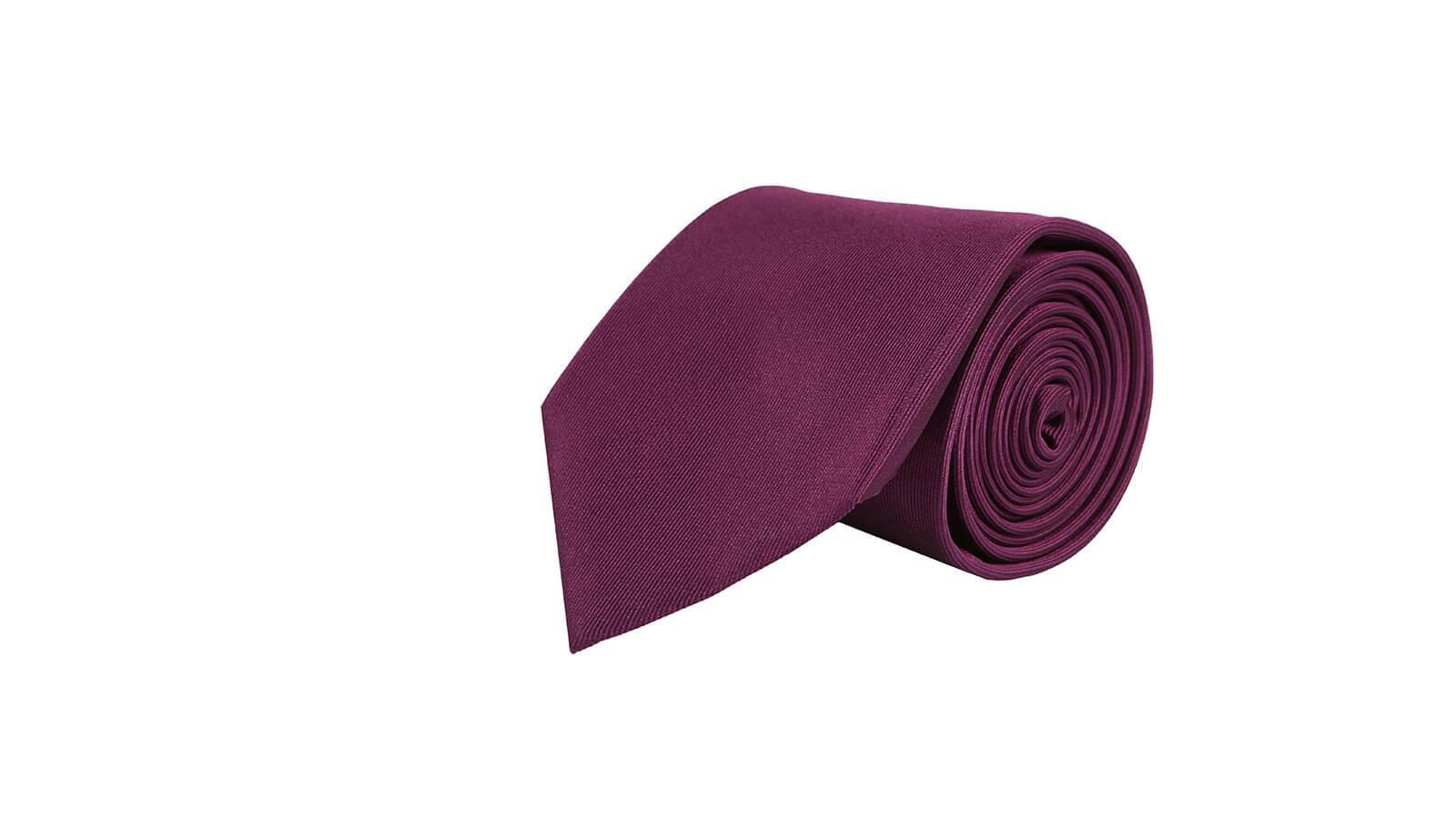 Solid Purple Silk Tie - slider image