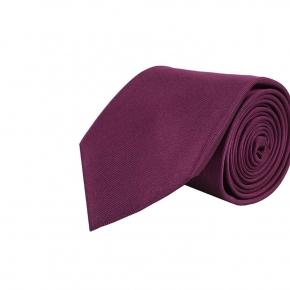 Solid Purple Silk Tie - thumbnail image 1