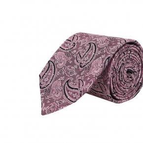 Pink Paisley Silk Tie - thumbnail image 1