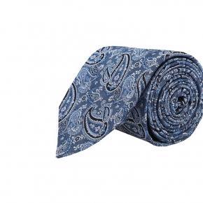 Light Blue Paisley Silk Tie - thumbnail image 1