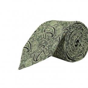 Green Paisley Silk Tie - thumbnail image 1