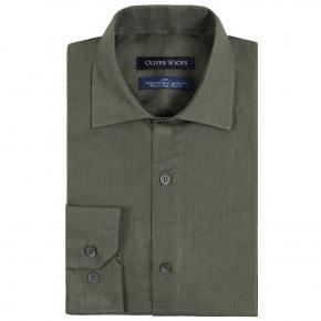 Forest Green Linen Shirt - thumbnail image 1