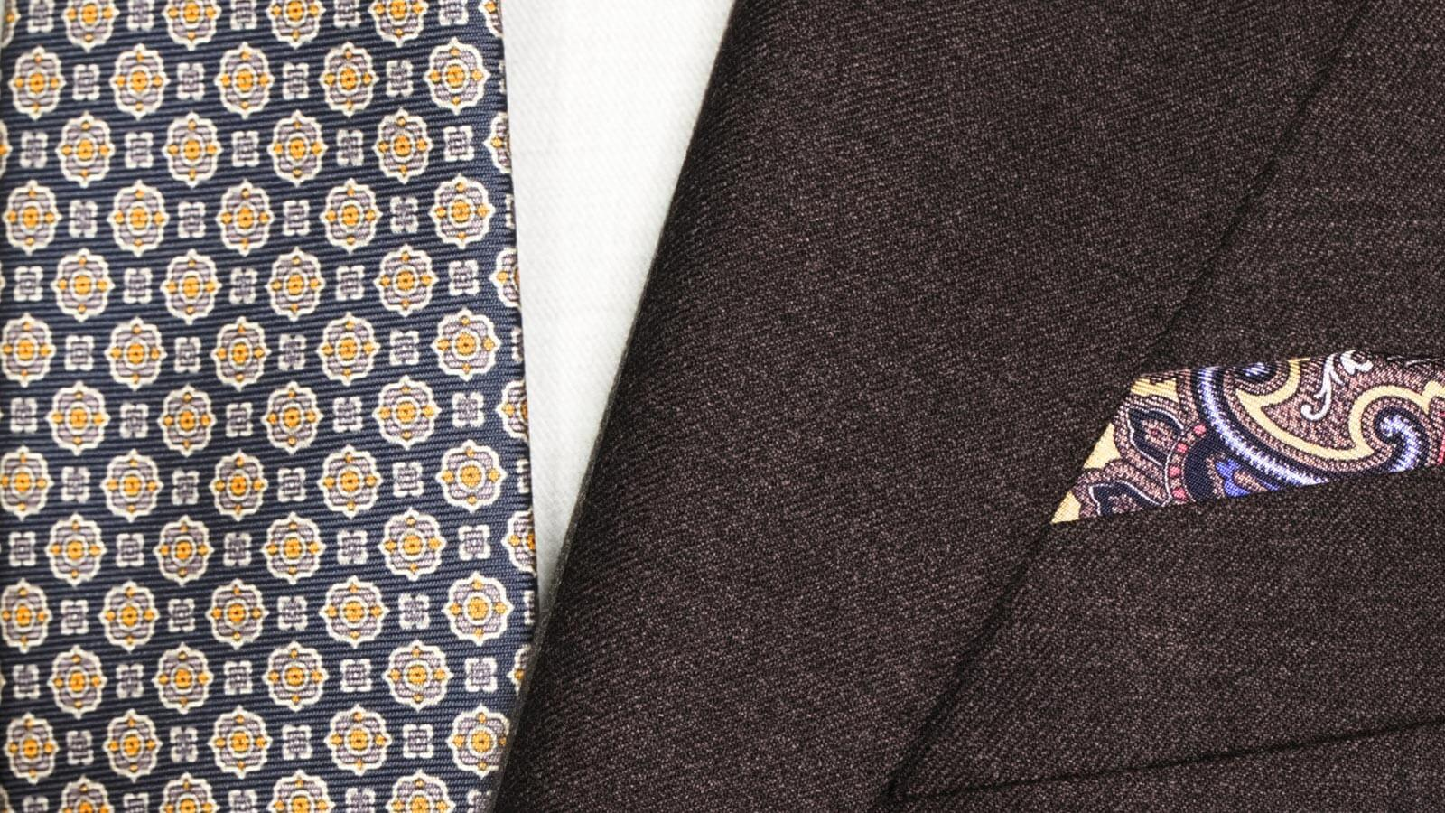 Worsted Chine Dark Brown Suit - slider image 1