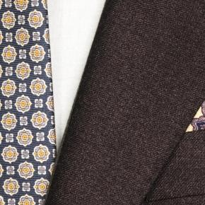 Worsted Chine Dark Brown Suit - thumbnail image 1