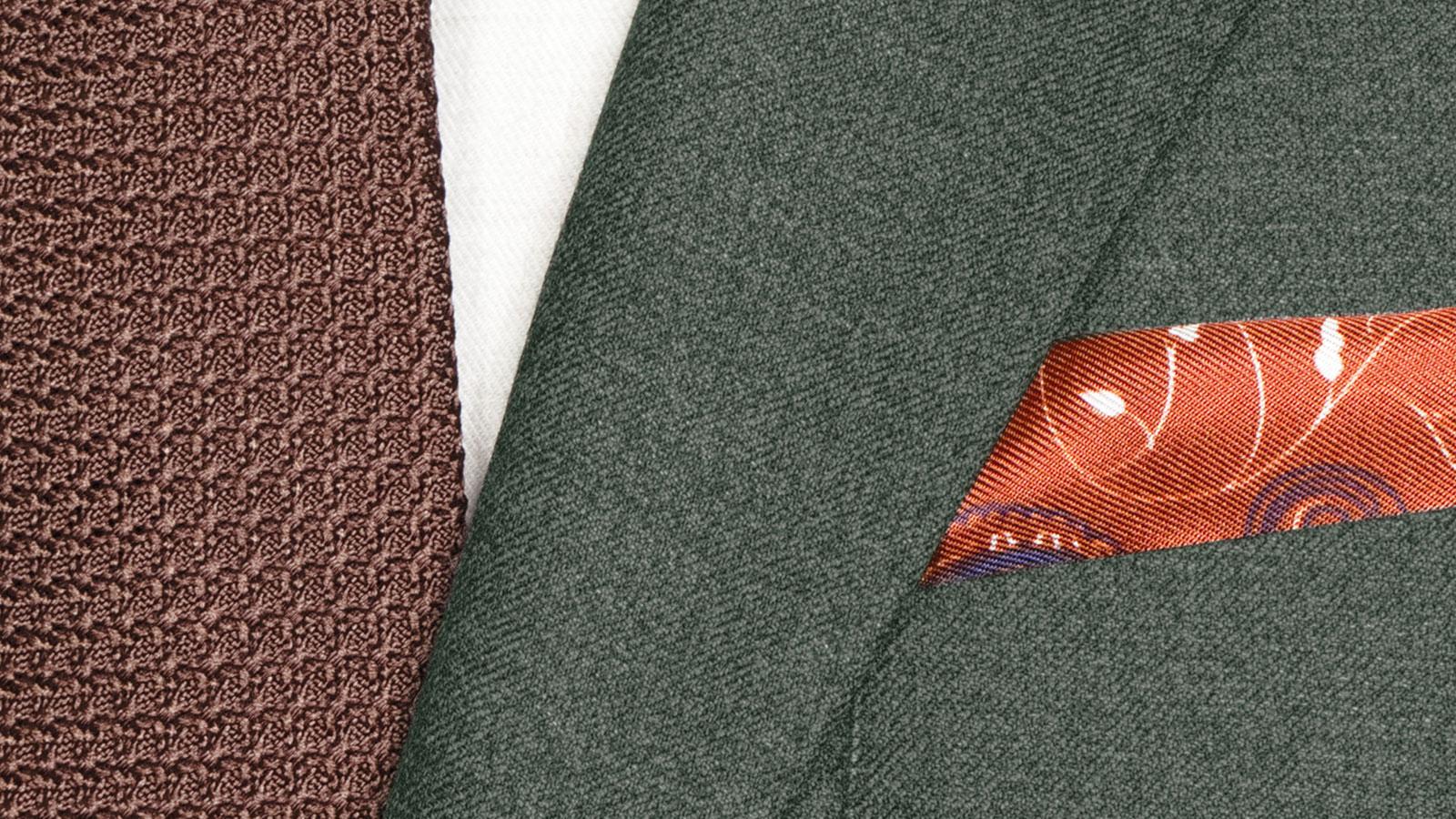 Worsted Chine Dark Green Suit - slider image 1