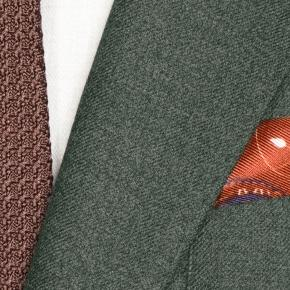 Worsted Chine Dark Green Suit - thumbnail image 1