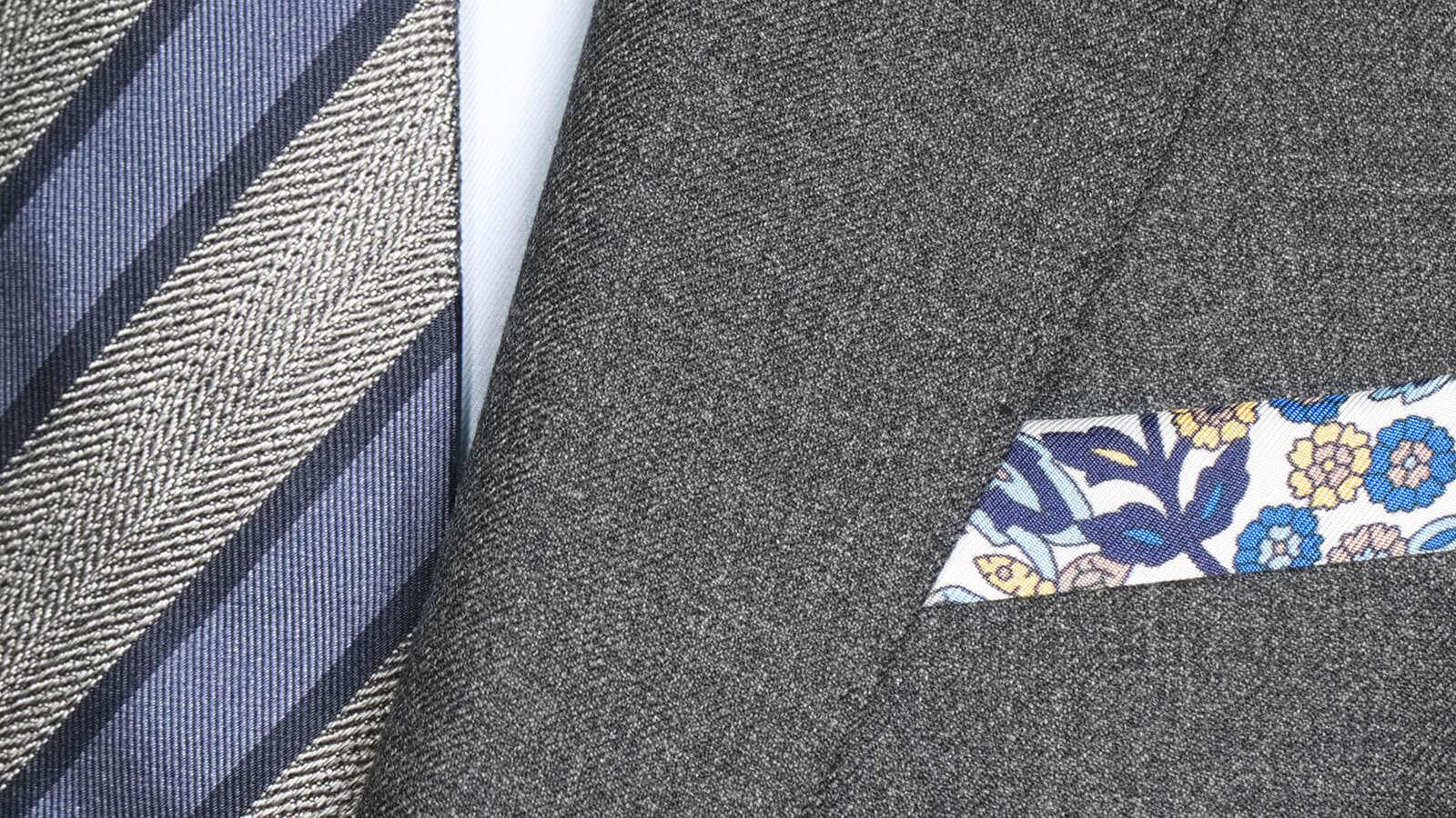 Worsted Chine Dark Grey Suit - slider image 1