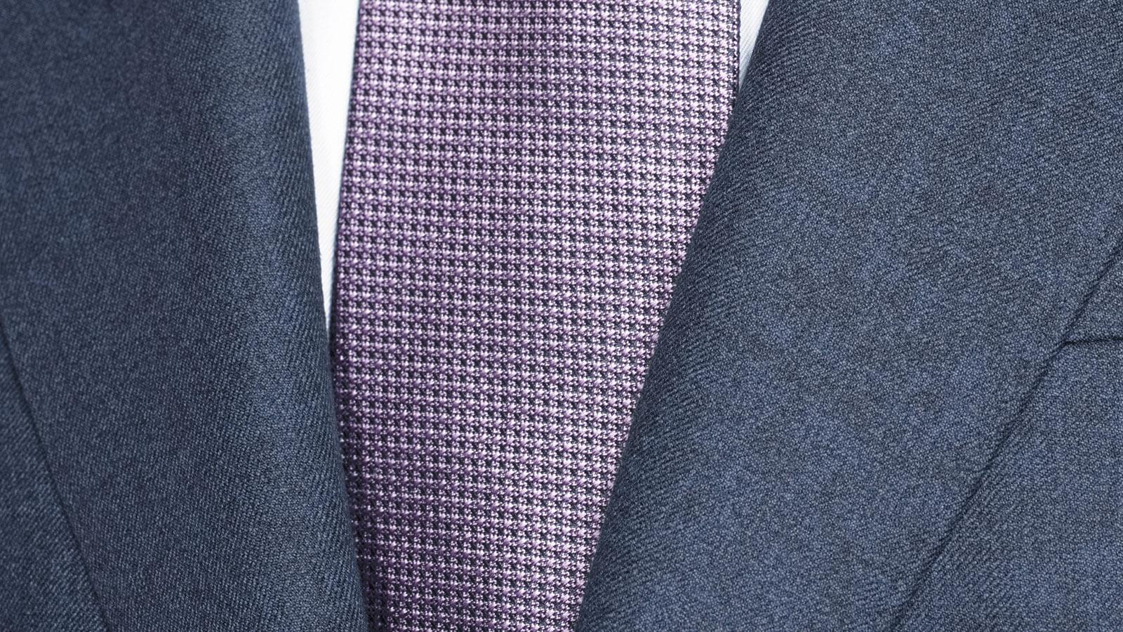 Worsted Chine Intense Blue Suit - slider image 1