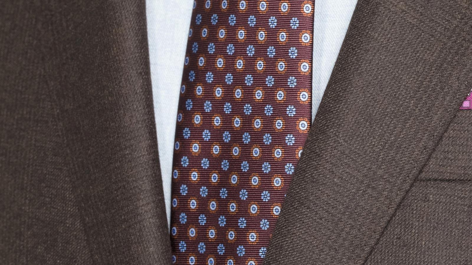 Chocolate Brown Plaid Suit - slider image 1