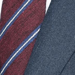 Ecru Pinstripe Blue Suit - thumbnail image 1