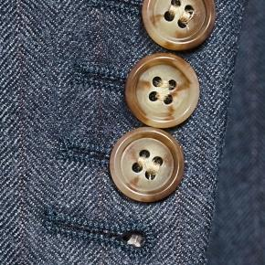 Ecru Pinstripe Blue Suit - thumbnail image 2