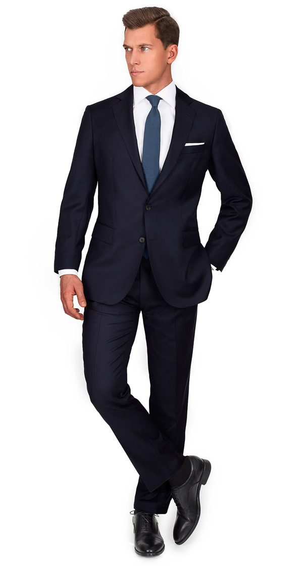 Custom Navy & Blue Suits, Tailored in Europe from Fine ...