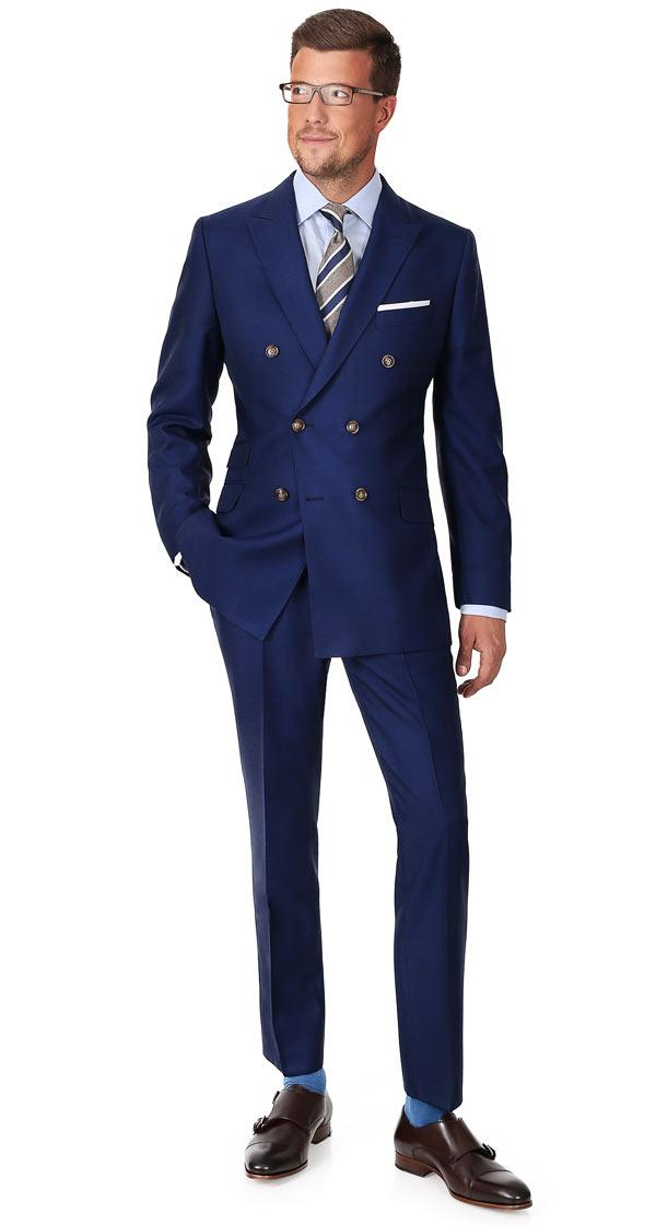 Royal Blue Pick & Pick Suit