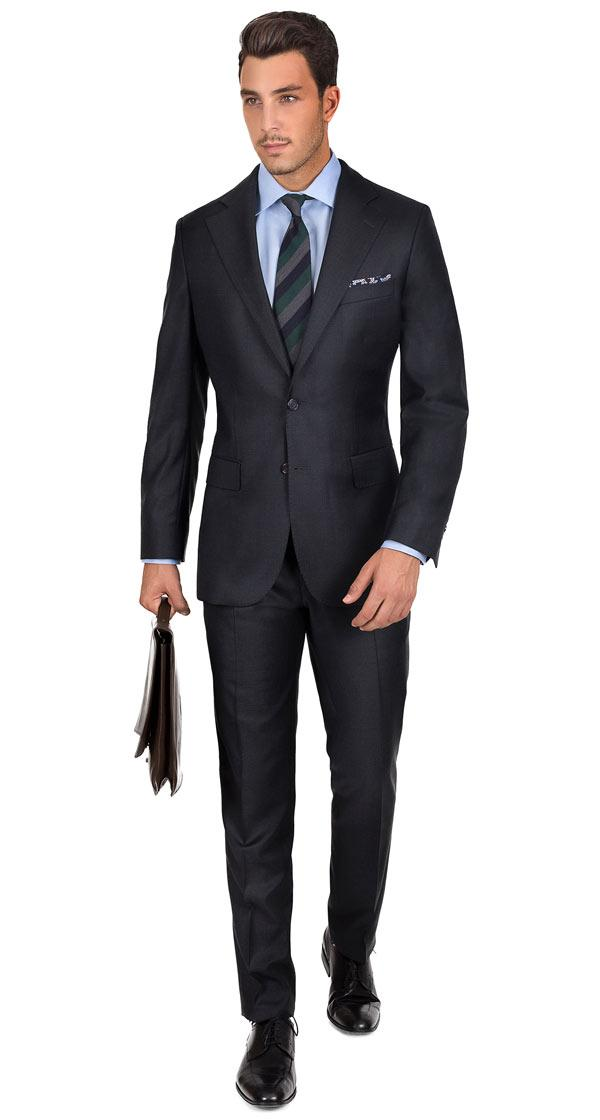 Charcoal Natural Stretch Wool Suit