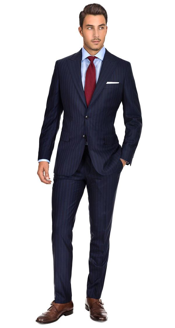 Sartoria Blue Stripe Navy Super 160s Suit