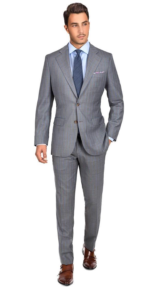 Sartoria Blue Stripe Grey Super 160s Suit