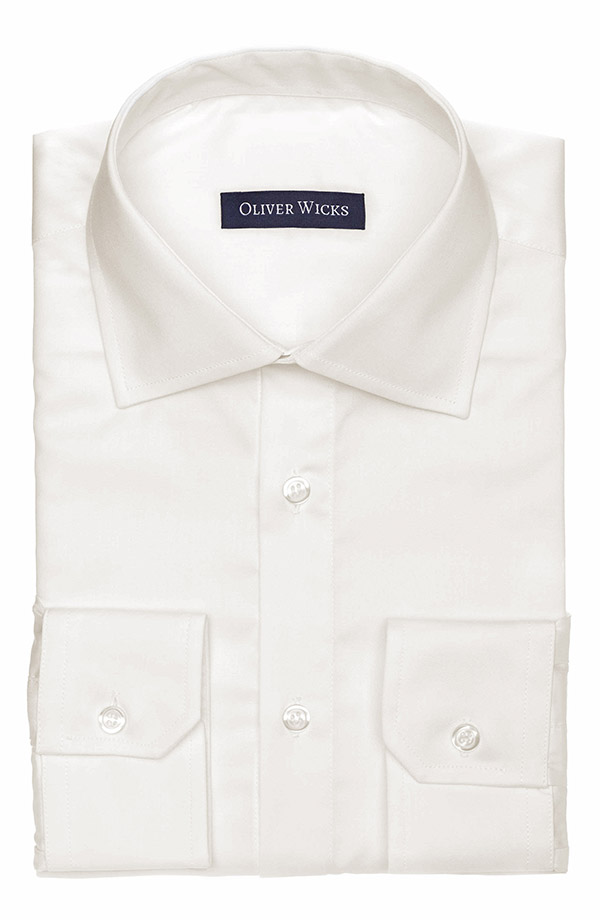 Ivory Two-Ply Cotton Twill Shirt