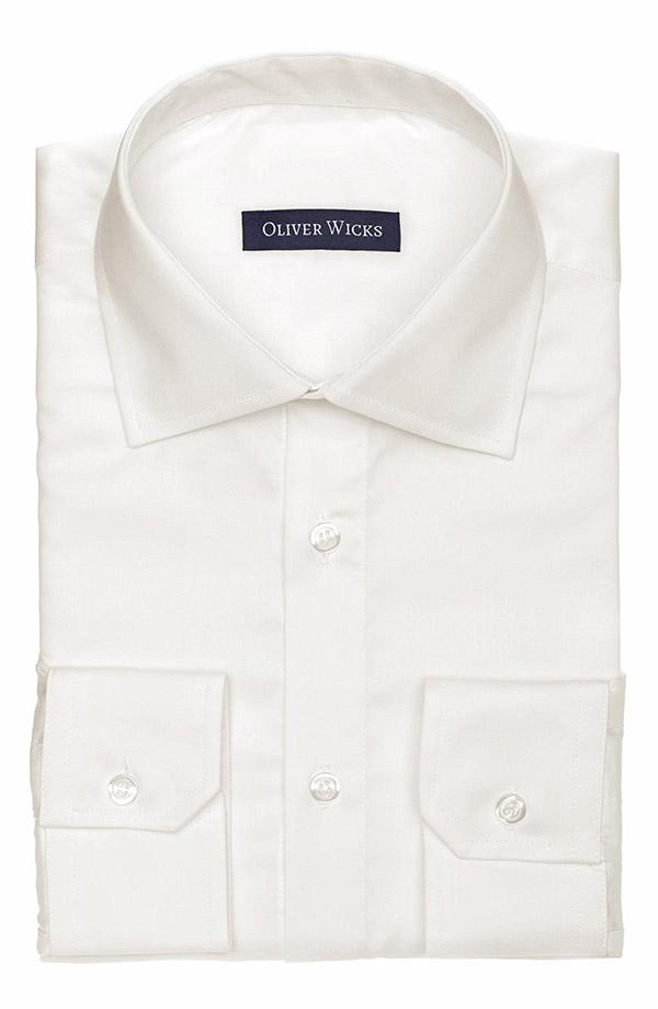 Ivory Cotton Twill Shirt