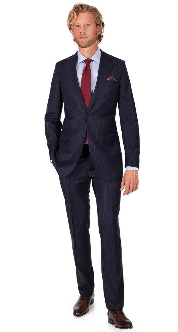 Navy Chalkstripe Suit