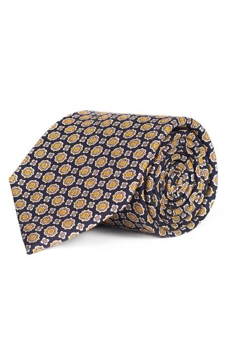 Navy & Bronze 28 Momme Silk Tie