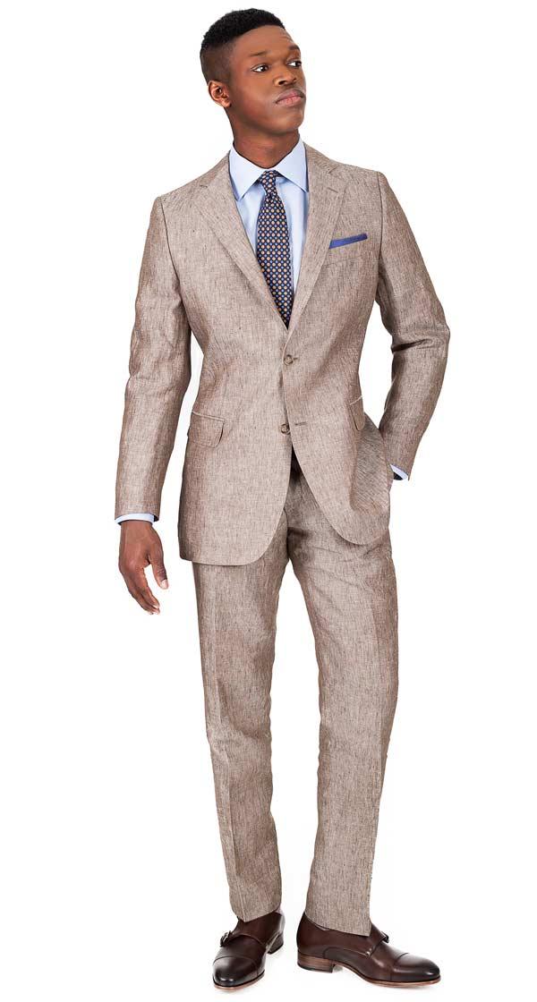 THE W. Suit in Khaki Linen