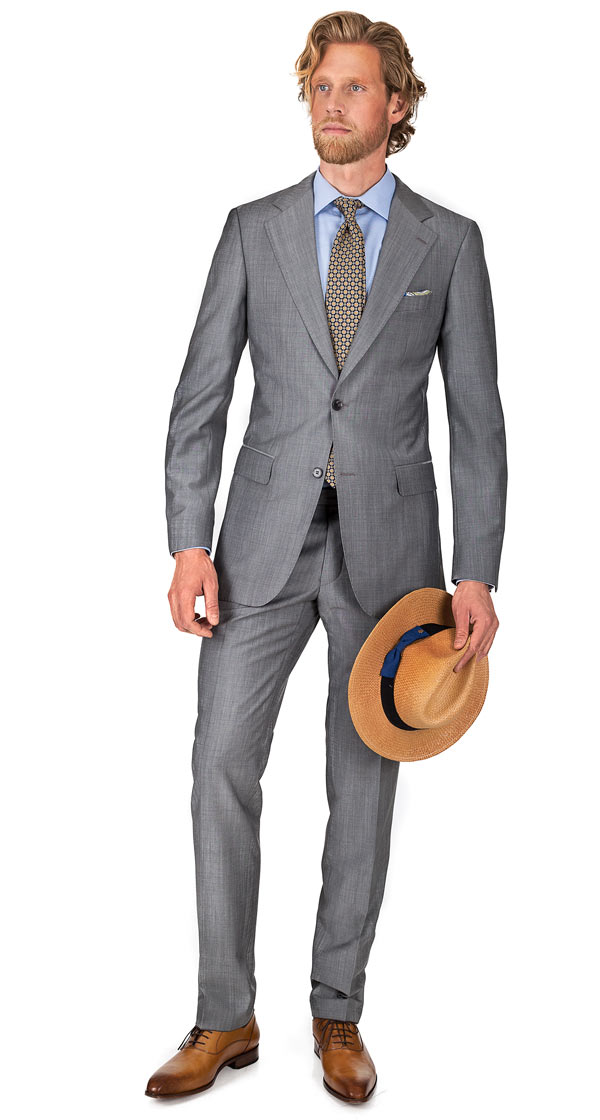 THE W. Suit in Light Grey Wool & Mohair