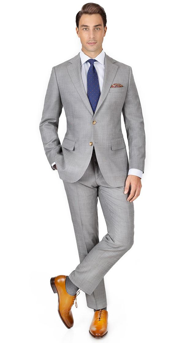 THE W. Suit in Light Grey Pick & Pick Wool