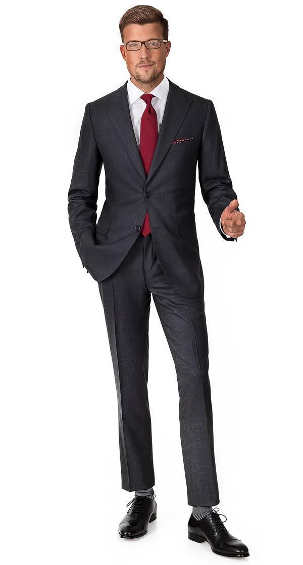 Vendetta Premium Charcoal Birdseye Suit