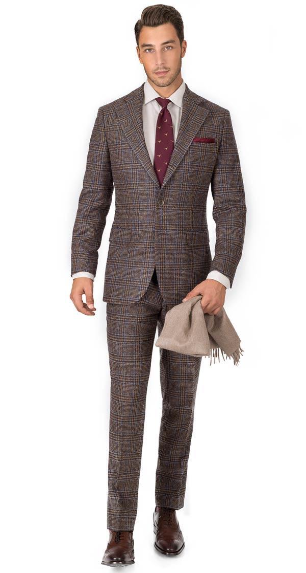 Brown Plaid Shetland Tweed Suit