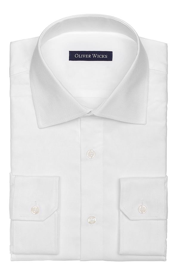 White Two-Ply Broadcloth Shirt