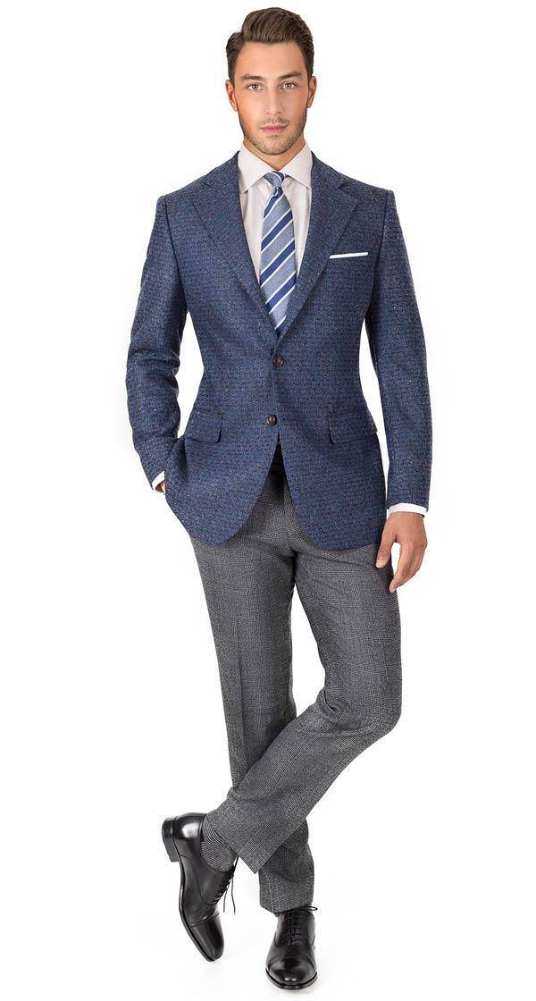 Blue Donegal Shadow Tweed Blazer